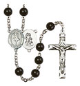 Guardian Angel/Dance 7mm Black Onyx Rosary R6007S-8712