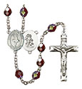 Guardian Angel/Dance 7mm Garnet Aurora Borealis Rosary R6008GTS-8712