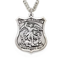 "St. Michael 1"" Nickel Silver Medal & Chain SM3752"