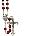 Rosary with 6mm Ruby Glass Beads SR3892RD