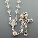 Rosary with Cut Glass Crystal Beads SR3952