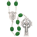 Rosary St. Patrick with  Shamrock Beads SR3959
