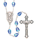 Rosary with Blue Teardrop Beads SR3960