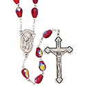 Rosary with Red Teardrop Beads SR3960