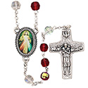 Rosary Divine Mercy Jubilee with Red Crystal Beads SR3971