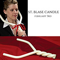 St. Blase Candle 51% Beeswax Intertwined
